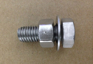 Stainless Steel Hex Bolts with Nuts and Flat Washers M10X25