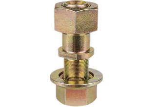 Golden color wheel hub bolt