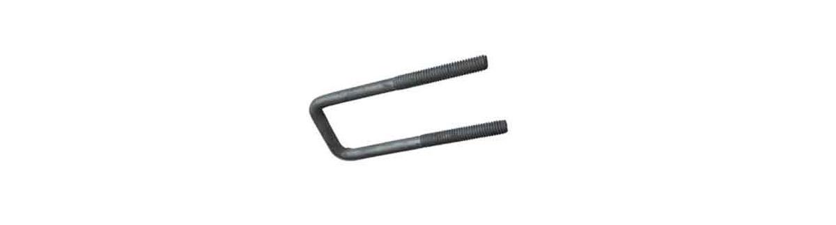 150M Standard U-Bolt Steel Plain 1/2 Pipe 0.84 OD 1/4 Rod