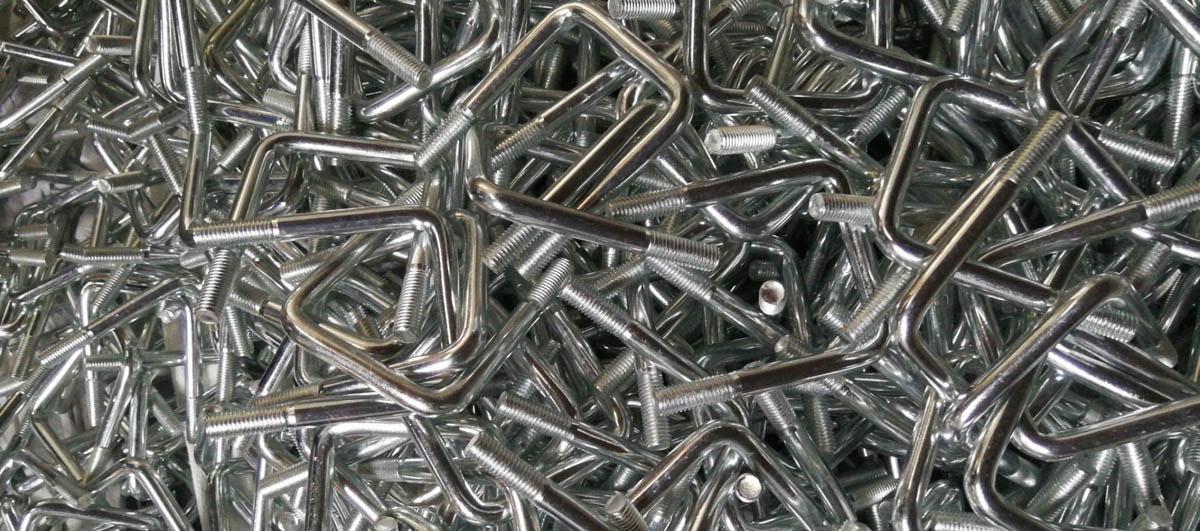 Carbon Steel U Bolt M12X90X114 Zinc Plated 4