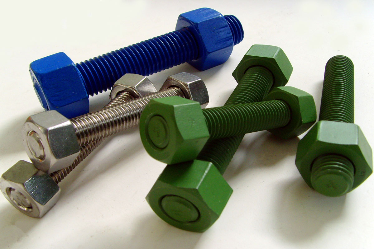 stud bolts with nuts and washers HDG finish