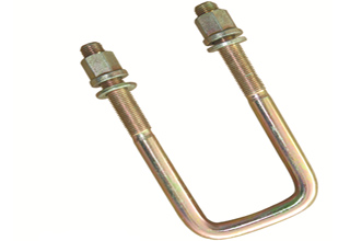 Stainless steel U bolts with hex nuts and washer