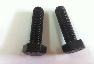 China Bolts Mild Steel Black Hex Head With Hex Nuts, 20mmX75mm