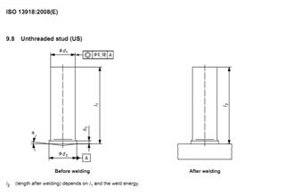 Welding Stud Typ US (unthreaded stud), 3x12mm