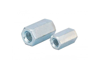 Hex Long Nuts, Zinc Plated Carbon Steel Hex Long Nuts DIN6334, M6X20mm