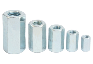 Hex Long Nuts, Zinc Plated Carbon Steel Hex Long Nuts DIN6334, M6X10mm