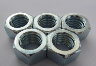 Hexagon Nuts, Zinc Plated Galvanized Hexagon Nuts Din934 M8