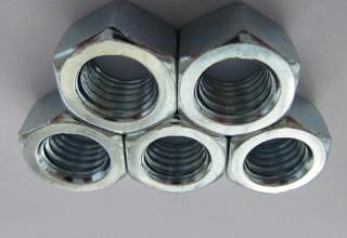 Hexagon Nuts, Zinc Plated Galvanized Hexagon Nuts Din934 M10