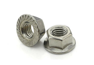 Flange Nuts, Stainless Steel M6