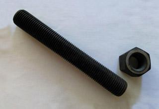 Alloy Stud Bolts, ASTM A-193 Gr. B7 Black 1-3/4 x 11-3/4