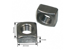 Square Nuts, Mild Steel Hot Dip Galvanized Square Nuts 5/8