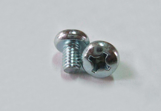 Screws, Zinc Plated Pan Head Screws with Cross Recess DIN7985 M3 x 10mm