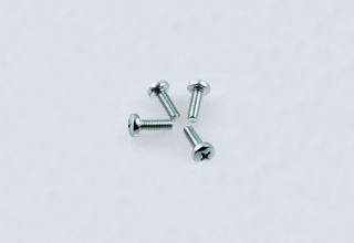 Screws, Zinc Plated Pan Head Screws with Cross Recess DIN7985 M4 x 12mm