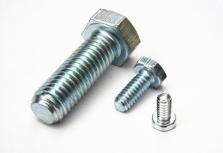 Hardware hex bolt and nut
