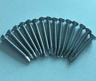 SS316 Countersunk head Self Drilling Screw DIN7504P Gross recessed 5.5X50 4