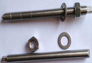 Stainless steel chemical bolt with nuts