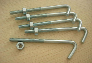 J Bolts, Carbon Steel J Bolts with Nut, M20 X 190 mm