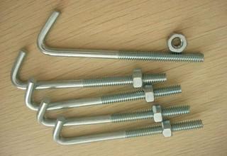J Bolts, Zinc Plated Carbon Steel J Bolts, M20 X 175 mm