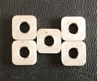 RVS Square Plate with threaded hole, SS304 Square Nut with threaded hole, A2 Square plate with threaded nut