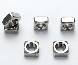SS304 Square Nut with threaded hole, A2 Square plate with threaded nut