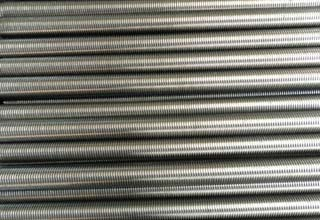 Hot dip galvanized steel threaded rod for tunnel mining support