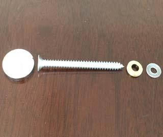 Self Drilling Screw set including SS304 screw, brass cap, brass washer, nylon washer 3