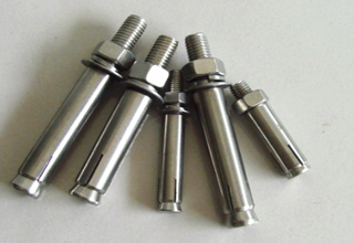 Many Types of Sleeve Anchors with Hex Flange Nuts Bolts