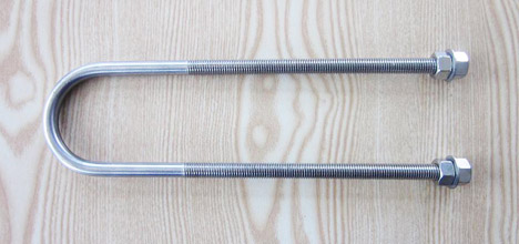 Stainless steel u bolt with washer and nut ANSI standard