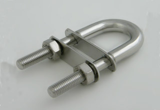 Standard size High quality Induction Hardened alloy steel U bolts with plate