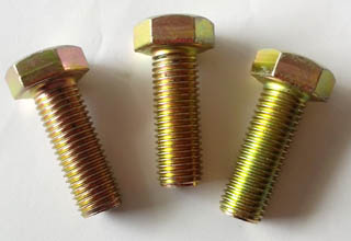 M18 zinc coating hex bolt with hex nut