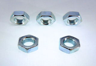Carbon steel zinc plated hexagon nuts for bolts