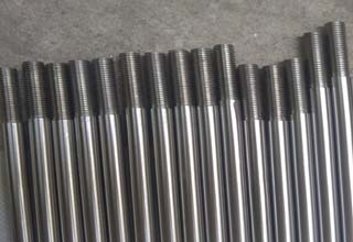 Galvanzied steel rods with one side thread